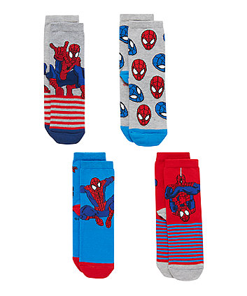 Spiderman Socks with Aegis - 4 Pack