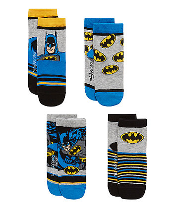 Batman Socks with Aegis - 4 Pack