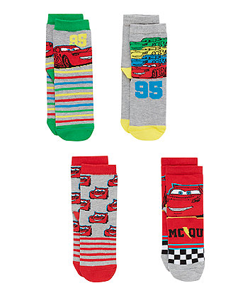 Disney Cars Socks with Aegis - 4 Pack