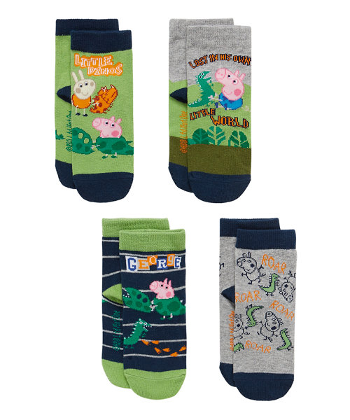 George Pig Socks with Aegis - 4 Pack