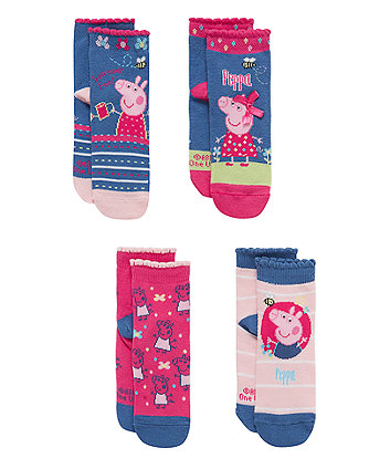 Peppa Pig Socks with Aegis - 4 Pack