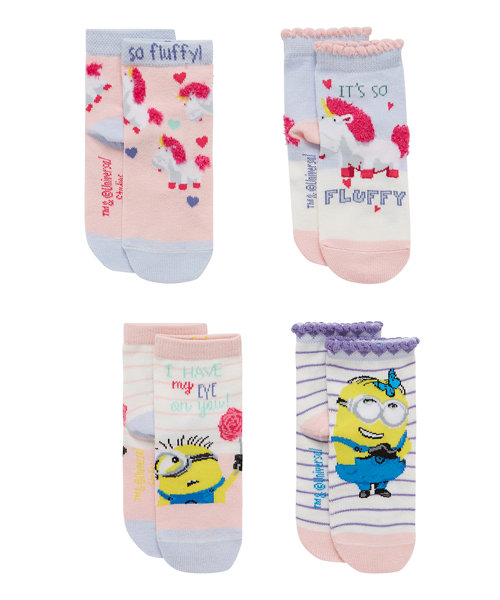 Minions Socks with Aegis - 4 Pack