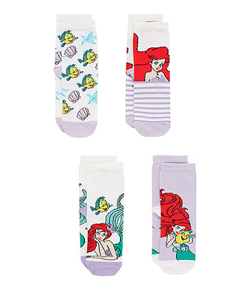 Disney The Little Mermaid Socks - 4 Pack