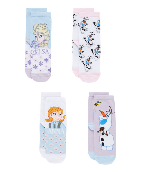 Disney Frozen Socks - 4 Pack