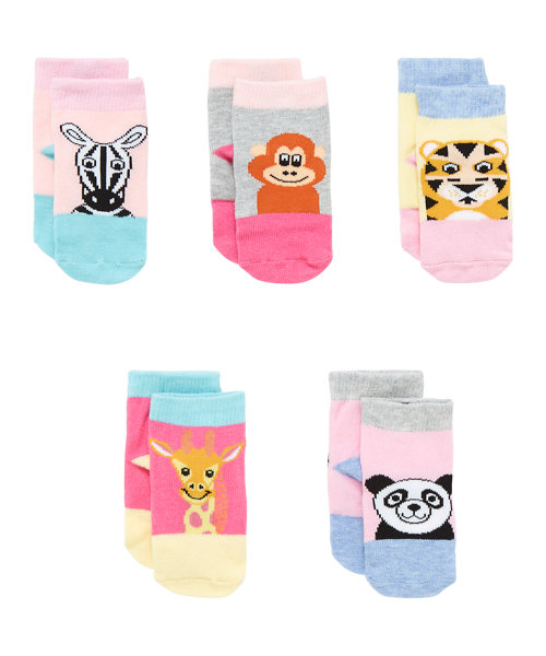 Novelty Animal Socks - 5 Pack