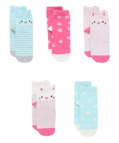 Novelty Cat Socks with Aegis - 5 Pack