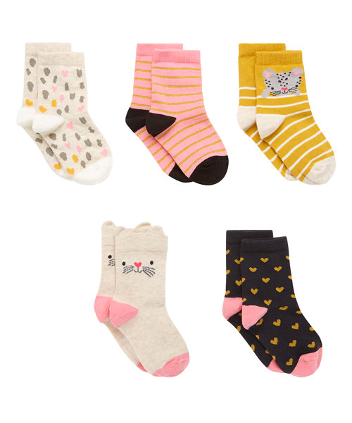 Animal Socks - 5 Pack