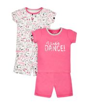 Let's Dance Shortie Pyjamas - 2 Pack