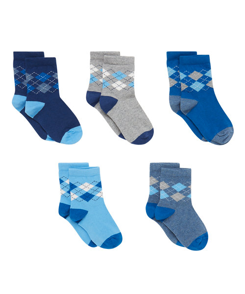 Argyle Socks with Aegis - 5 Pack