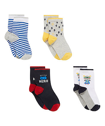 Superhero Socks - 4 Pack