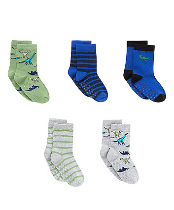 Dinosaur Socks with Aegis - 5 Pack