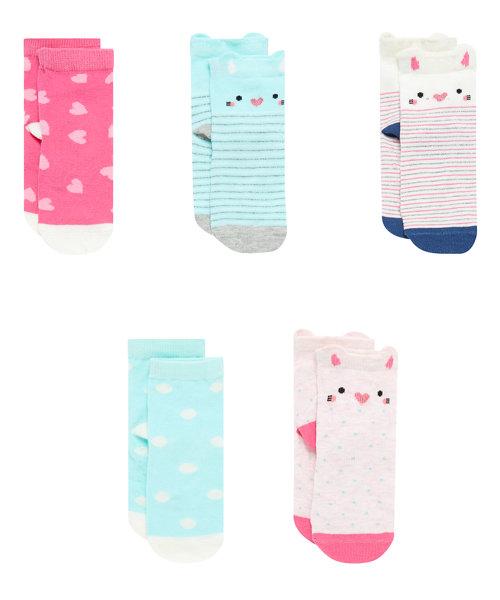 Cat Slip Resist Socks - 5 Pack