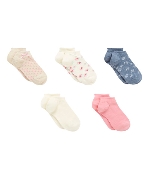 Floral Trainer Socks - 5 Pack