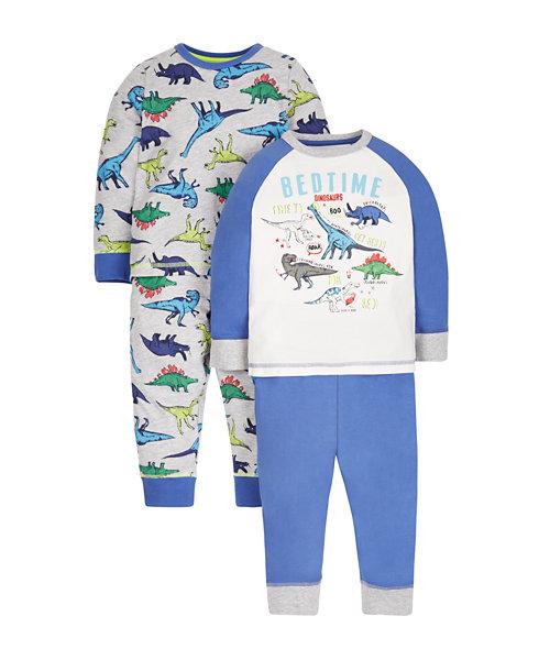 Dinosaur Pyjamas - 2 Pack