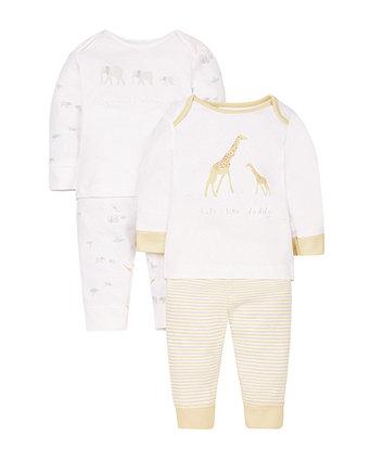 Mummy and Daddy Animal Pyjamas -2 Pack