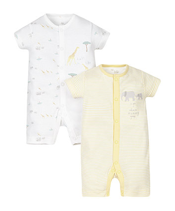 Mummy and Daddy Rompers - 2 Pack