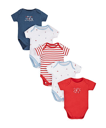 Little Sailor Bodysuits - 5 Pack