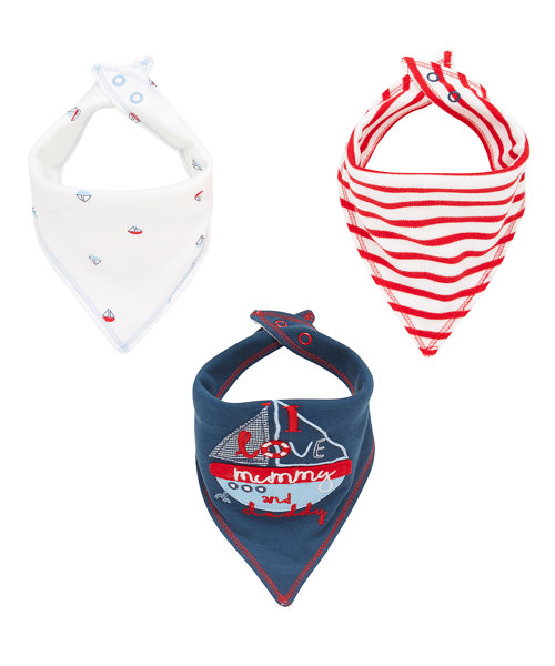 Sailor Bibs - 3 Pack