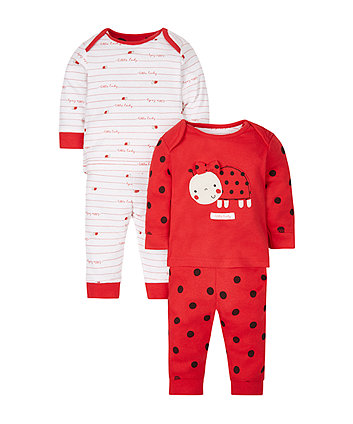 Little Ladybird Pyjamas - 2 Pack