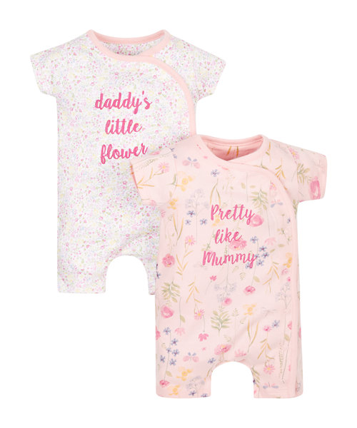 Blooming Farm Rompers - 2 Pack