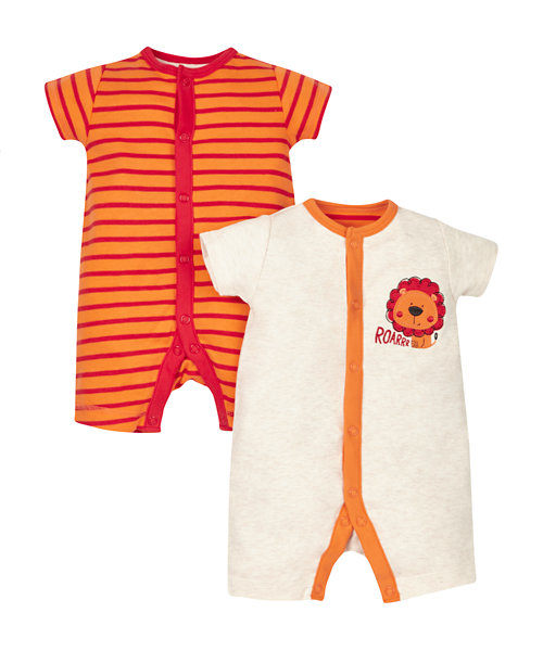 Little Lion Rompers - 2 Pack