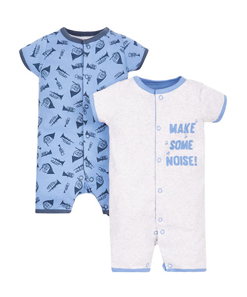 Little Musician Rompers - 2 Pack