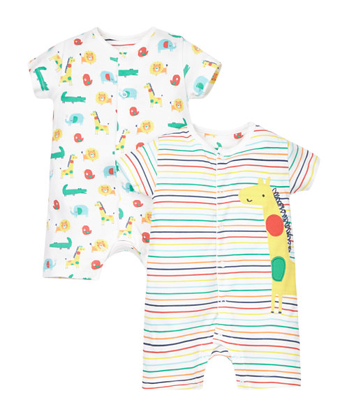 Jungle Rompers - 2 Pack