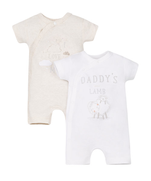 Little Lamb Rompers - 2 Pack