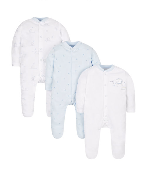 My First Little Lion Sleepsuits - 3 Pack