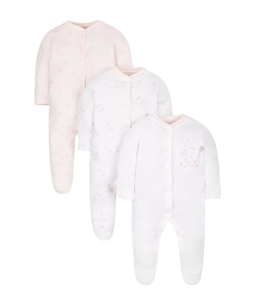 My First Little Mouse Sleepsuits - 3 Pack