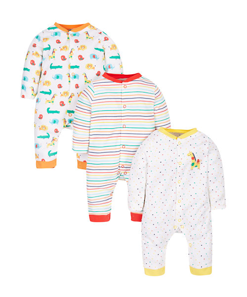 Jungle Sleepsuits - 3 Pack