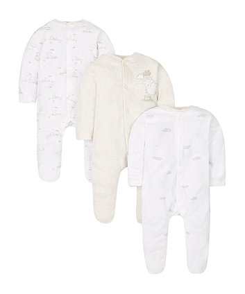 My First Little Lamb Sleepsuits - 3 Pack