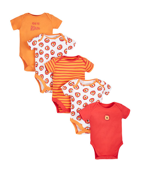 Little Lion Bodysuits - 5 Pack