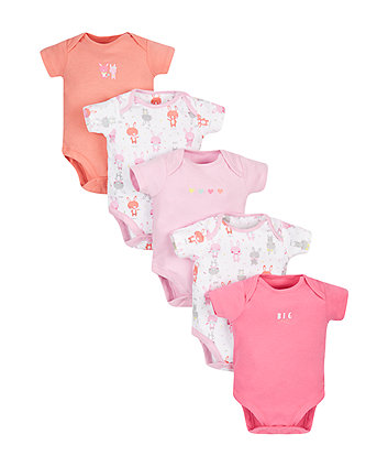 Little Bunny Bodysuits - 5 Pack