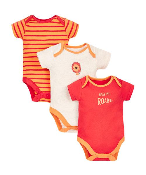 Little Lion Bodysuits - 3 Pack