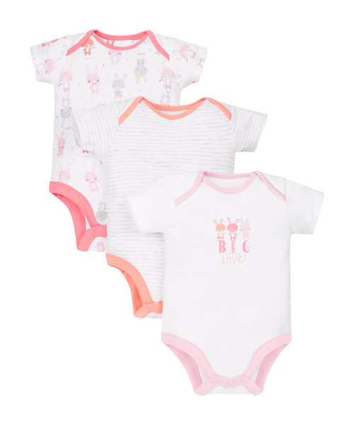 Little Bunny Bodysuits - 3 Pack