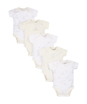 Little Lamb Bodysuits - 5 Pack