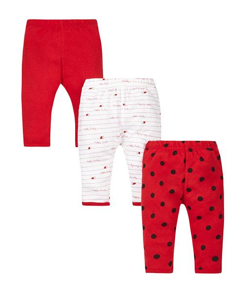 Ladybird Leggings - 3 Pack