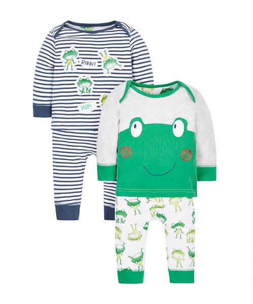 Frog Pyjamas - 2 Pack