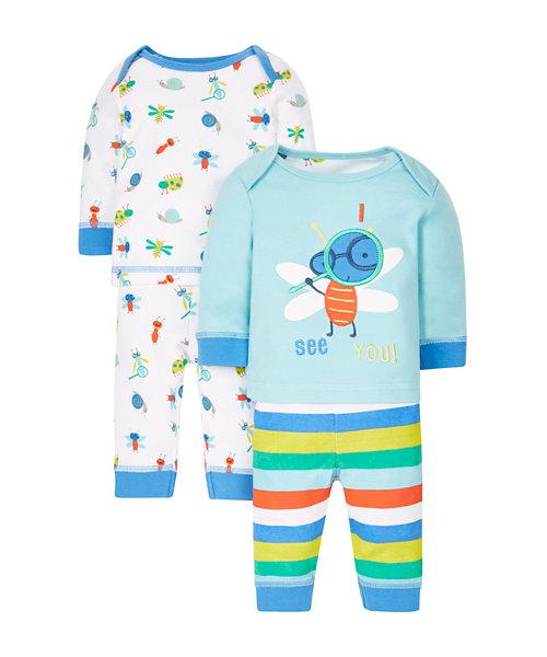 Bug Pyjamas - 2 Pack