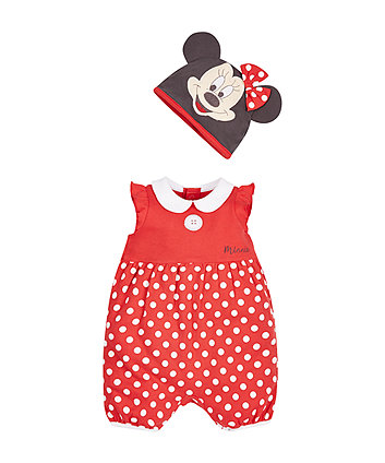 Disney Minnie Mouse Romper with Hat