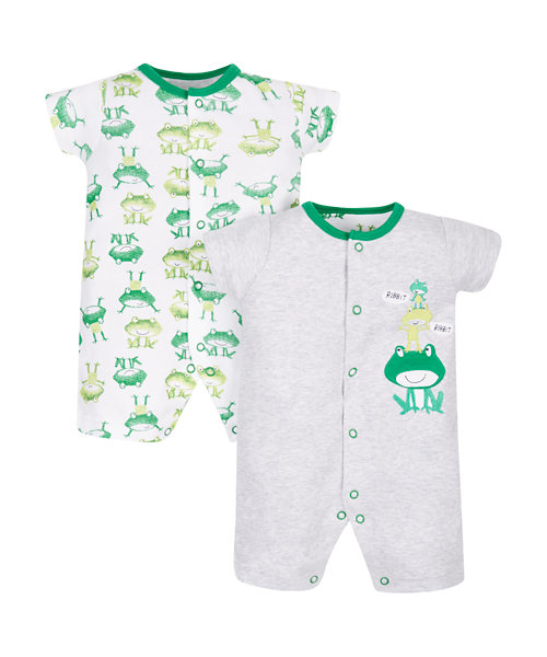 Frog Rompers - 2 Pack