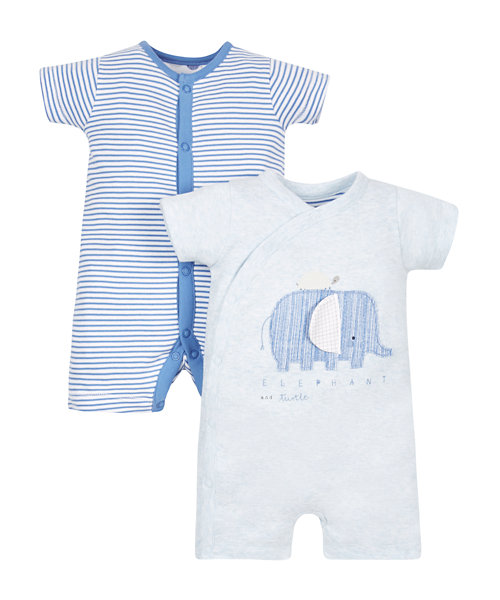 Elephant Rompers - 2 Pack