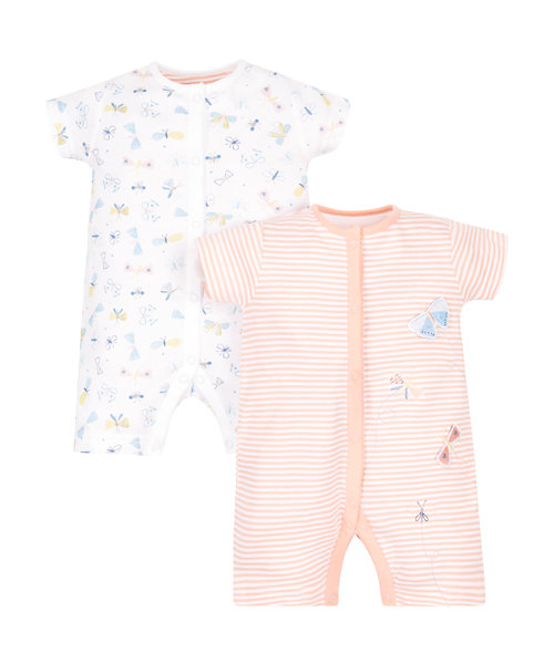 Butterfly Rompers - 2 Pack