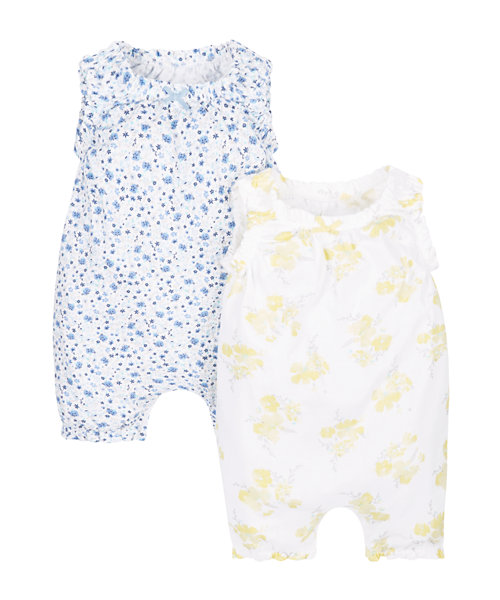 Floral Rompers - 2 Pack