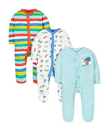 Bug Sleepsuits - 3 Pack