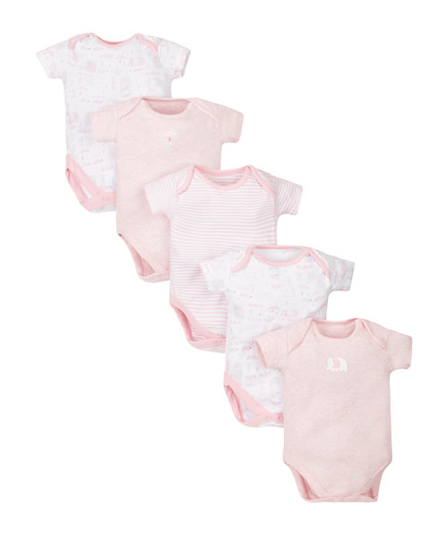 Little Elephant Bodysuits - 5 Pack