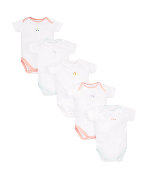 Butterfly Bodysuit - 5 Pack