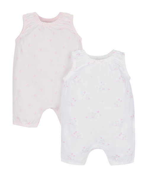 Little Mouse Rompers - 2 Pack