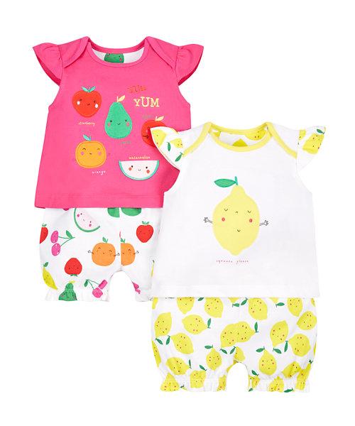 Fruit Shortie Pyjamas - 2 Pack